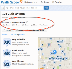 Walk Score from 120 20th Ave